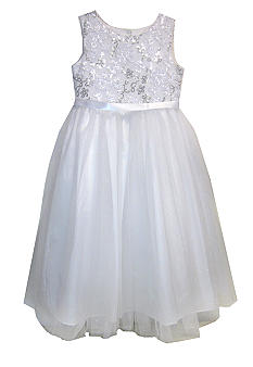Pippa & Julie Sequin Bodice Flower Girl Dress Girls 4-6X - Online Only