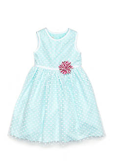 Marmellata Polka Dot Overlay Dress Girls 4-6x