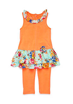 Marmellata 2-Piece Ruffle Trim Tank and Capri Set Girls 4-6X