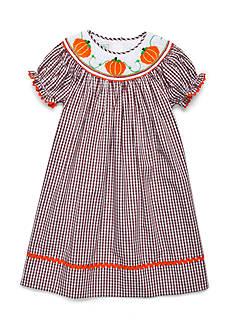 Marmellata Pumpkin Smock Dress Girls 4-6x