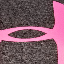 Girls Graphic Tees: Carbon Heather/Chaos Under Armour Big Logo Tee Girls 7-16