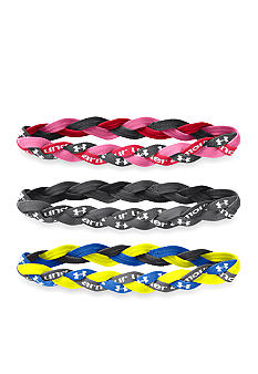 Under Armour 3-Pack Braided Mini Headband Girls