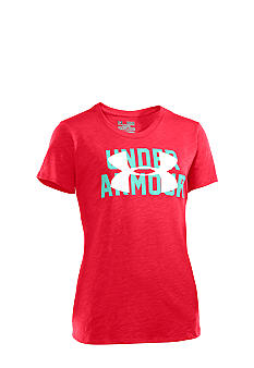 Under Armour Logo Slub Tee Girls 7-16