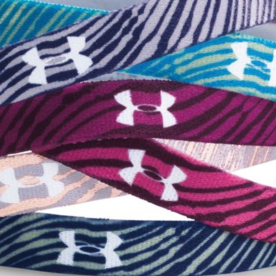 Girls 7-16 Size Activewear: Jazz Blue/Beet Under Armour Graphic Words Headband Girls 7-16