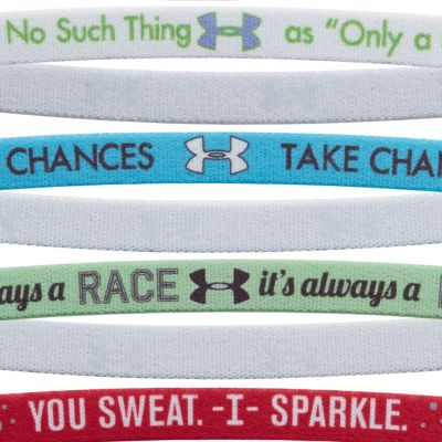 Girls Accessories: Flax Under Armour Graphic Words Headband Girls 7-16