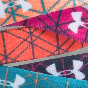 Girls Clothing 7-16: Cyber Orange/Pacific/White Under Armour Graphic Words Headband Girls 7-16