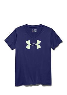 Under Armour Tech Big Logo V-Neck Tee Shirt Girls 7-16