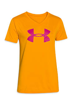 Under Armour Tech Big Logo V-Neck Tee Shirt Girls 7-16