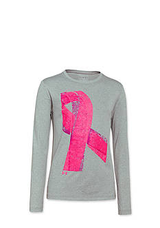 Under Armour® PIP Ribbon Long Sleeve Tee Shirt Girls 7-16