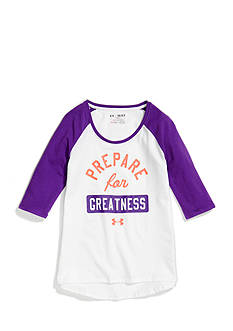 Under Armour 3/4 Sleeve Baseball Tee Girls 7-16