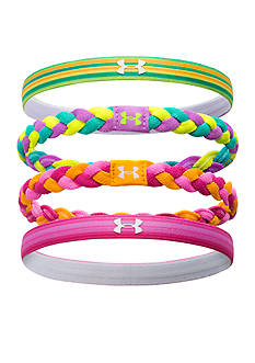 Under Armour 4-Pack Graphic Elastic Headbands Girls 7-16