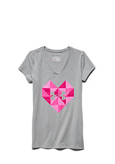Under Armour Valentine's Day Geo Heart V-Neck Tee Girls 7-16