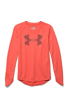 Under Armour Long Sleeve Logo Waffle Top Girls 7-16
