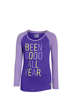 Under Armour 'Been Good All Year' Raglan Tee Girls 7-16