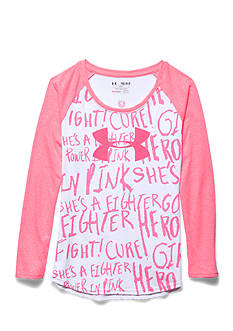 Under Armour Long Sleeve Power in Pink Top Girls 7-16