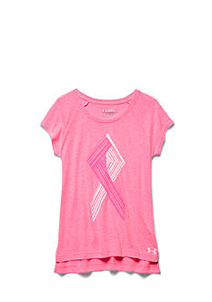 Under Armour Short Sleeve Power in Pink Ribbon Tee Girls 7-16