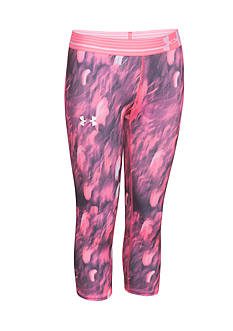 Under Armour HeatGear Armour Printed Capris Girls 7-16