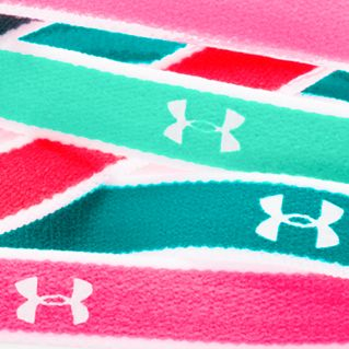 Girls 7-16 Size Activewear: Pine Shadow/Green Breeze/White Under Armour Mini Headbands Girls 7-16