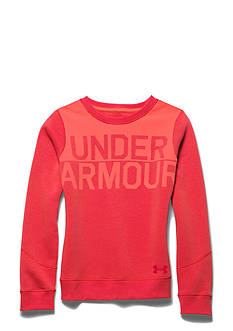 Under Armour Charged Cotton Wordmark Crewneck Sweatshirt Girls 7-16