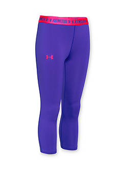 Under Armour HeatGear Solid Capris Girls 7-16