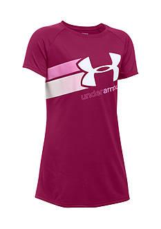 Under Armour Fast Lane Big Logo Top Girls 7-16