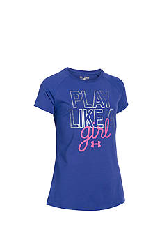 Under Armour Printed 'Play Like A Girl' Top Girls 7-16