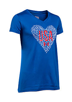 Under Armour 'USA' Heart Graphic Tee Girls 7-16