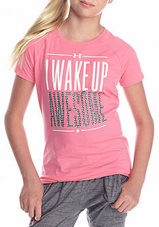 Under Armour 'Wake Up Awesome' Tee Girls 7-16