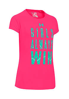 Under Armour 'Girls Always Win' Graphic Tee Girls 7-16