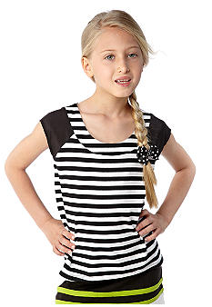 kc parker Stripe Knit Top Girls 7-16