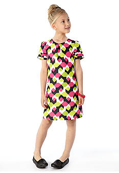 kc parker Geometric Print Dress Girls 7-16