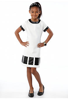 kc parker Pleather Pieced Dress Girls 7-16