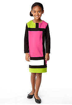 kc parker Color Block Dress Girls 7-16