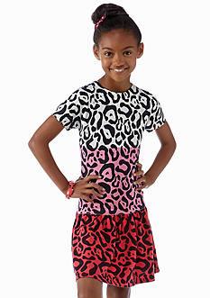 kc parker® Leopard Printed Drop Waist Dress Girls 7-16