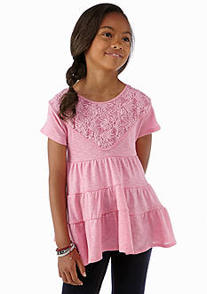 kc parker® Lace Overlay Baby Doll Top Girls 7-16