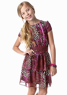 kc parker® Multi Print Chiffon Dress Girls 7-16