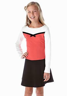 kc parker® Knit Colorblock Dress Girls 7-16
