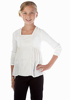 kc parker® Long Sleeve Knit Top Girls 7-16