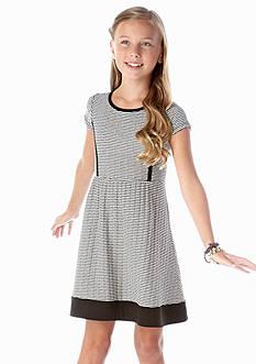 kc parker® Textured Stripe Dress Girls 7-16
