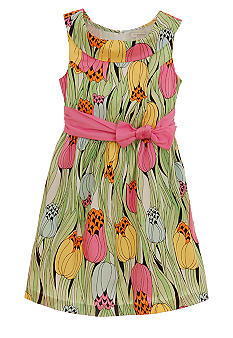 kc parker Floral Print Dress Girls 7-16