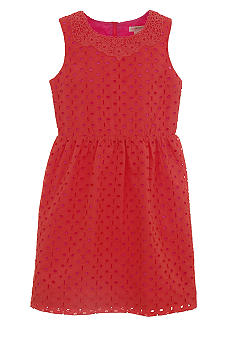 kc parker Orange Dot Dress Girls 7-16