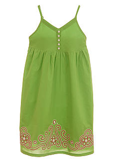 kc parker Embroidered Woven Dress Girls 7-16