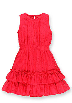 Hartstrings Floral Lace Dress Girls 7-16