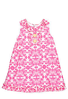 Nain & Joe Damask Print Dress Girls 2-8