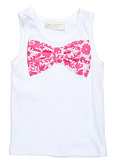Nain & Joe Damask Bow Tank Girls 2-8