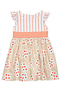 Nain & Joe Orange Daisy Hazel Dress Girls 2-8