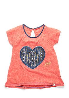 Lucky Brand Short Sleeve Studded Heart Tee Girls 7-16