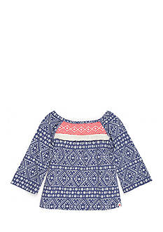 Lucky Brand Flowy Yoke Top Girls 4-6x