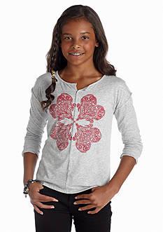 Lucky Brand Henna Clover Tee Girls 7-16