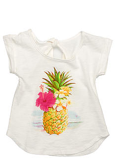 Lucky Brand Pineapple Tee Girls 4-6X